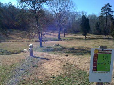 Groves Park, Main course, Hole 4 Long tee pad