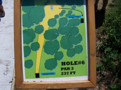 Shore Acres Park, Main course, Hole 6 Hole sign