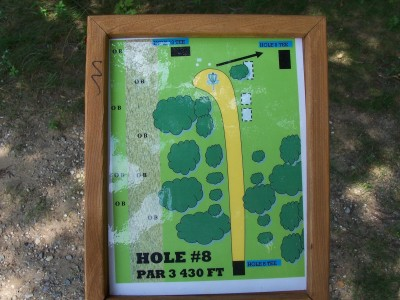 Shore Acres Park, Main course, Hole 8 Hole sign