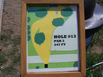 Shore Acres Park, Main course, Hole 13 Hole sign
