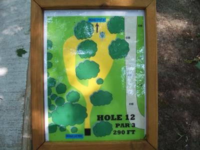 Shore Acres Park, Main course, Hole 12 Hole sign