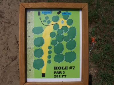 Shore Acres Park, Main course, Hole 7 Hole sign