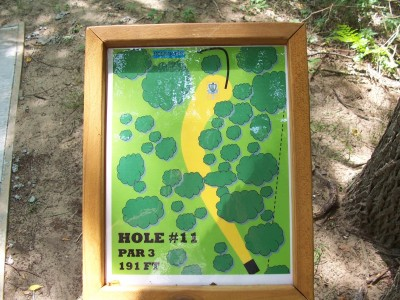 Shore Acres Park, Main course, Hole 11 Hole sign