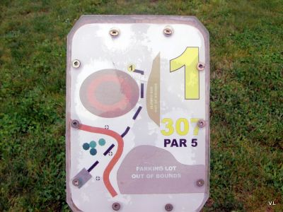Homewood Park, Main course, Hole 1 Hole sign