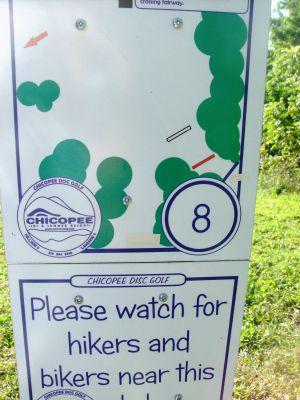 Chicopee, Main course, Hole 8 Hole sign