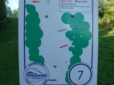 Chicopee, Main course, Hole 7 Hole sign