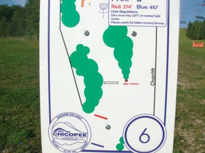 Chicopee, Main course, Hole 6 Hole sign