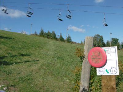 Chicopee, Main course, Hole 14 Hole sign