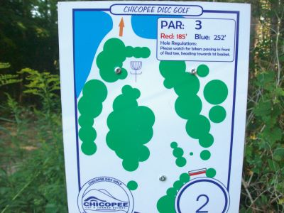 Chicopee, Main course, Hole 2 Hole sign
