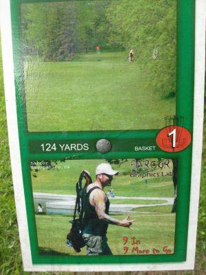 Belmont DGC, Main course, Hole 1 Hole sign