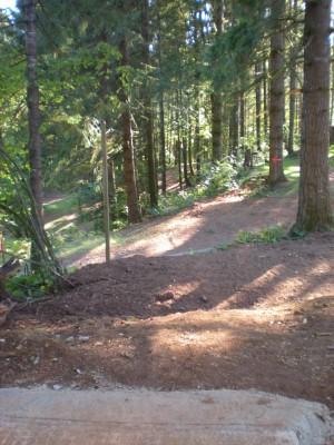 Horning's Hideout, Meadow Ridge, Hole 1 Tee pad