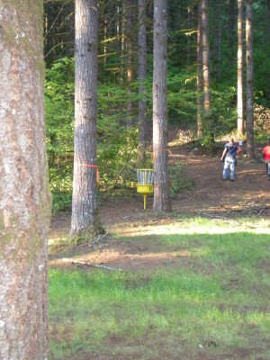 Horning's Hideout, Meadow Ridge, Hole 11 Short approach
