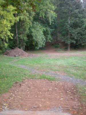 Horning's Hideout, Meadow Ridge, Hole 17 Tee pad