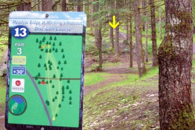 Horning's Hideout, Meadow Ridge, Hole 13 Tee pad
