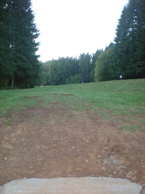 Horning's Hideout, Meadow Ridge, Hole 16 Tee pad