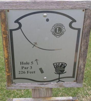 Lions Park, Main course, Hole 5 Hole sign