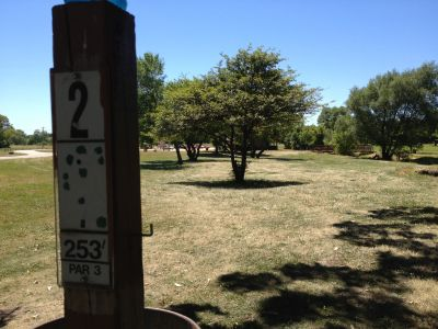 Porter Park, Main course, Hole 2 Tee pad