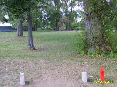 McCurdy Park, Main course, Hole 1 Tee pad