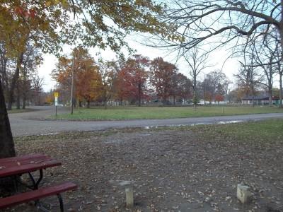 McCurdy Park, Main course, Hole 8 Tee pad
