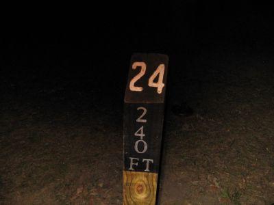 Brys Park, Main course, Hole 24 Hole sign