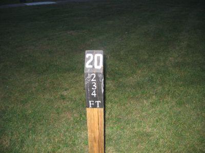 Brys Park, Main course, Hole 20 Hole sign