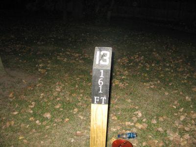Brys Park, Main course, Hole 13 Hole sign