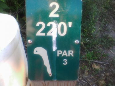 Reed Park, Main course, Hole 2 Hole sign