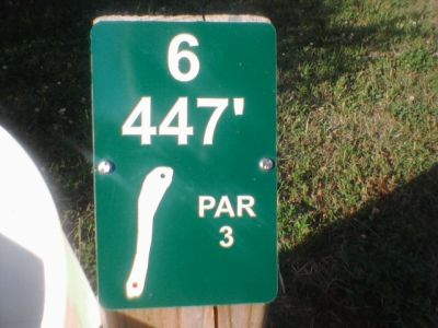 Reed Park, Main course, Hole 6 Hole sign