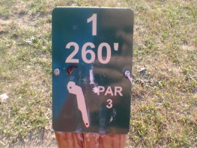 Reed Park, Main course, Hole 1 Hole sign