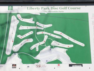 Liberty Park, Main course, Hole 1 Hole sign