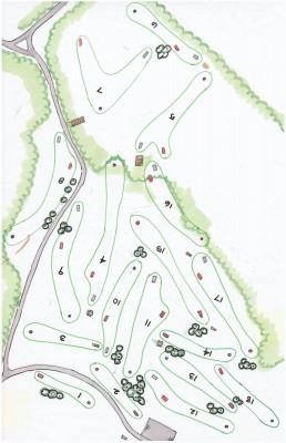 Mary Beth Doyle Park, Main course, Hole 1 Tee pad