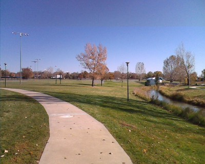 Centennial Park, Main course, Hole 1 Long approach