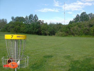 Lions Club of Sudbury DGC, Main course, Hole 7 Reverse (back up the fairway)