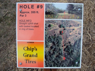 Old City Park, Main course, Hole 9 Hole sign