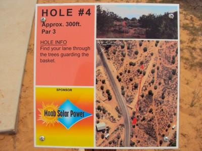 Old City Park, Main course, Hole 4 Hole sign