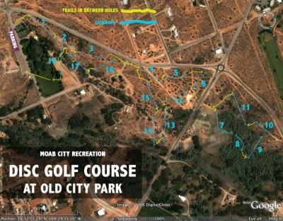Old City Park, Main course, Hole 1 Hole sign