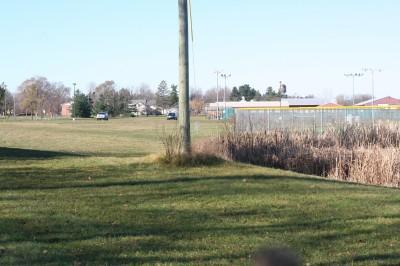 Eaton Rapids Fields, Main course, Hole 8 Tee pad