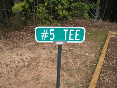 Little Creek Park, Main course, Hole 5 Hole sign