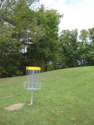 Little Creek Park, Main course, Hole 8 Reverse (back up the fairway)