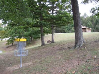 Little Creek Park, Main course, Hole 1 Reverse (back up the fairway)