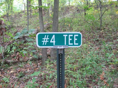 Little Creek Park, Main course, Hole 4 Hole sign