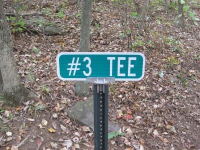 Little Creek Park, Main course, Hole 3 Hole sign