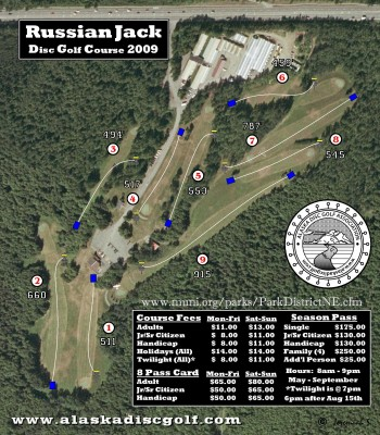 Russian Jack, Main course, Hole 1 Hole sign