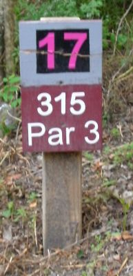 Gateway Park, West (The Privy), Hole 17 Hole sign