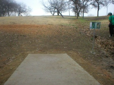 Turner Park, Main course, Hole 18 Tee pad