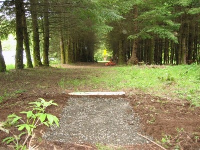 Seven Acres of Trees, Main course, Hole 2 Tee pad