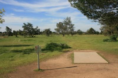 Woodward Legacy DGC, Main course, Hole 5 Short tee pad
