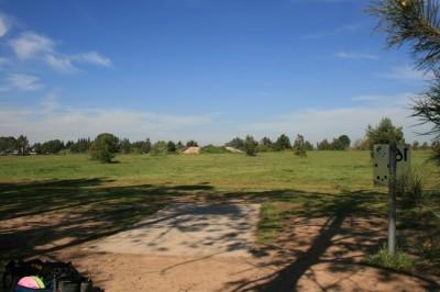Woodward Legacy DGC, Main course, Hole 16 Short tee pad