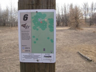 Oxbow, Main course, Hole 6 Hole sign