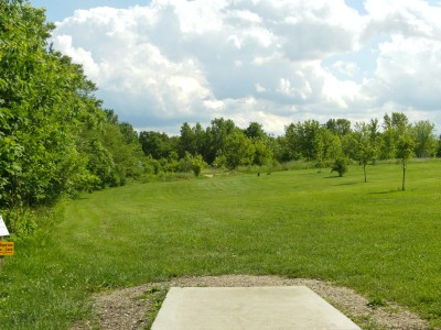 Lemon Lake County Park, White, Hole 3 Tee pad